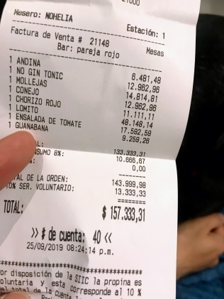 Our bill =D