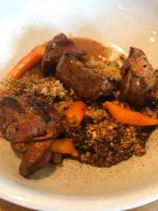 Lamb skewers with couscous