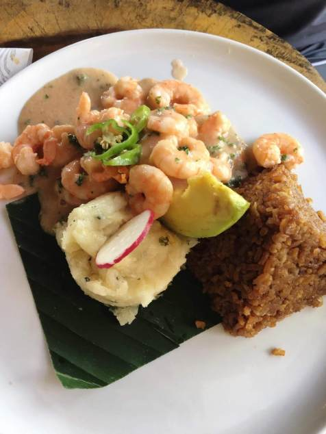 La Mulata - Shrimp in Coconut with their coco rice