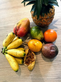 A small selection of fruits we've been lucky to eat. They are all so sweet!