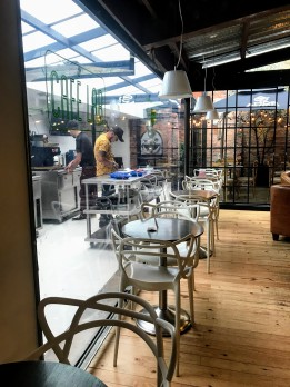 A coffee lab where they are experimenting with different coffee beans.