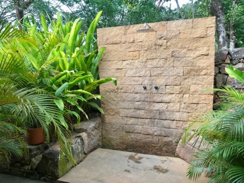 The hot outdoor shower
