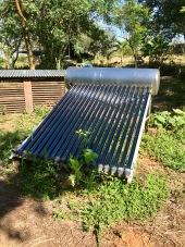 Solar heated hot water!
