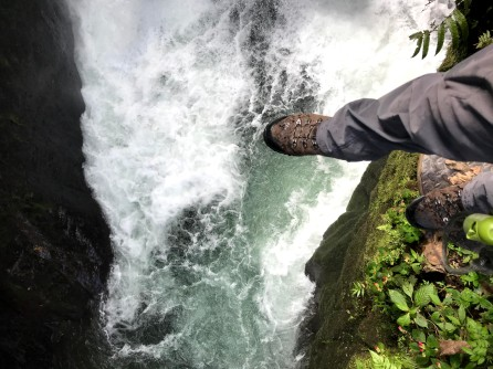 The ledge over a waterfall