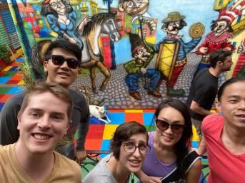 Group selfie (sans ME) in La Boca